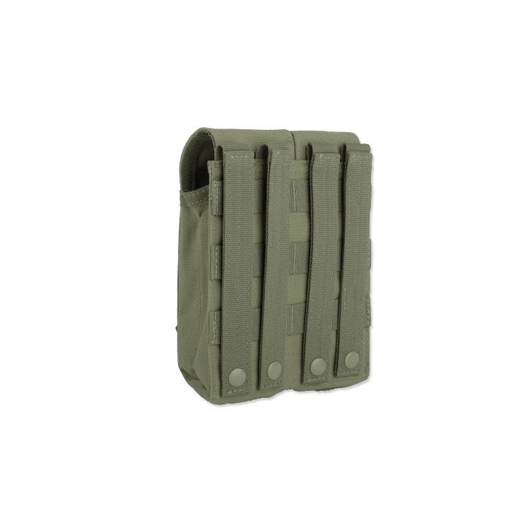 MOLLE dvojitá sumka na zásobníky AR/AK/SA-58 - s klopou