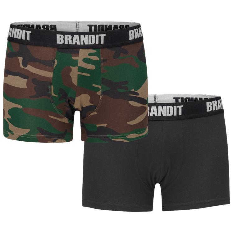 Pánské boxerky s logem, 2 ks, Brandit - Pánské boxerky Brandit s logem, 2 kusy