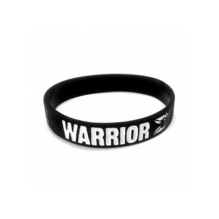 Silikonový náramek, černý, Warrior - Silikonový náramek, černý, Warrior