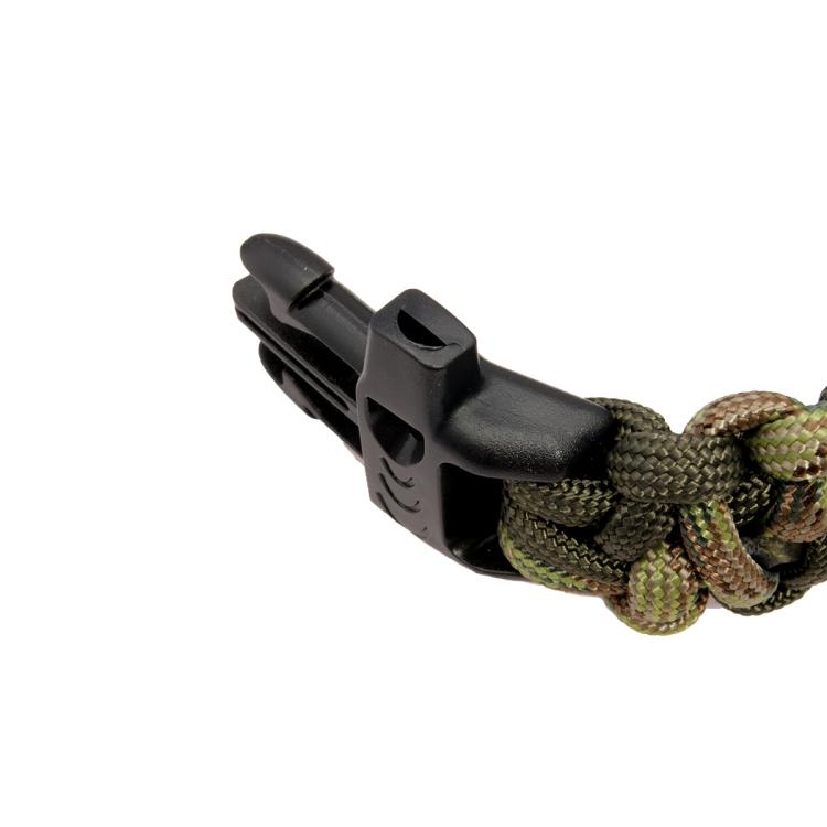 Paracordový náramek Kobra s píšťalkou, multicam, zigzag vzor