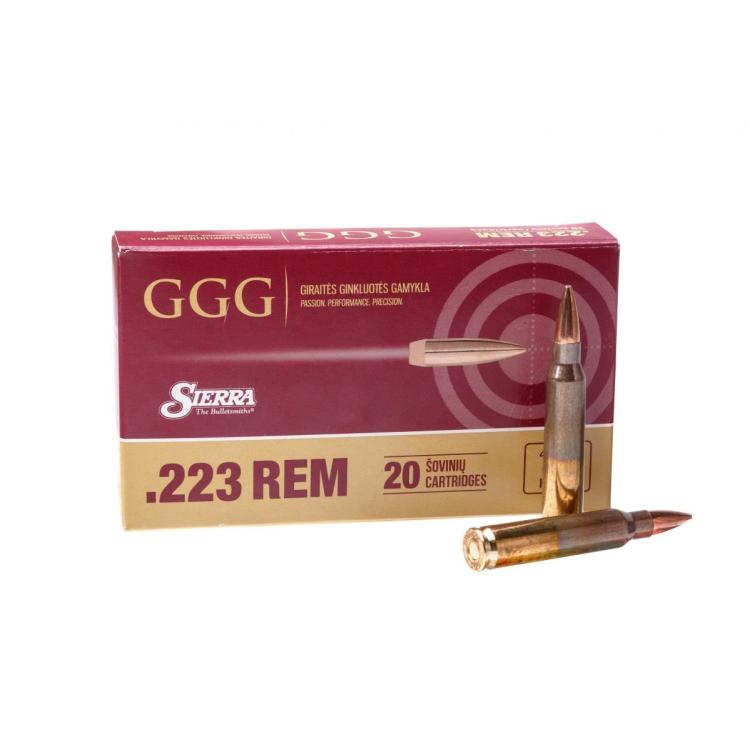 Náboje .223 REM, střela Sierra MatchKing, 69 grn HPBT, 20 ks, GGG