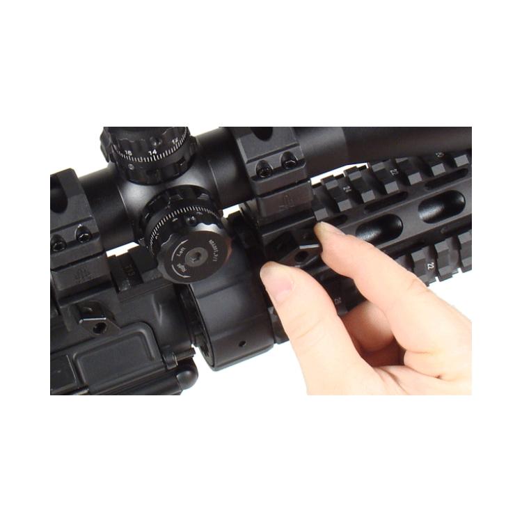 "Montážní picatinny kroužky 1"", 2 ks, medium, Max Strenght, 22 mm široké, černé, UTG"