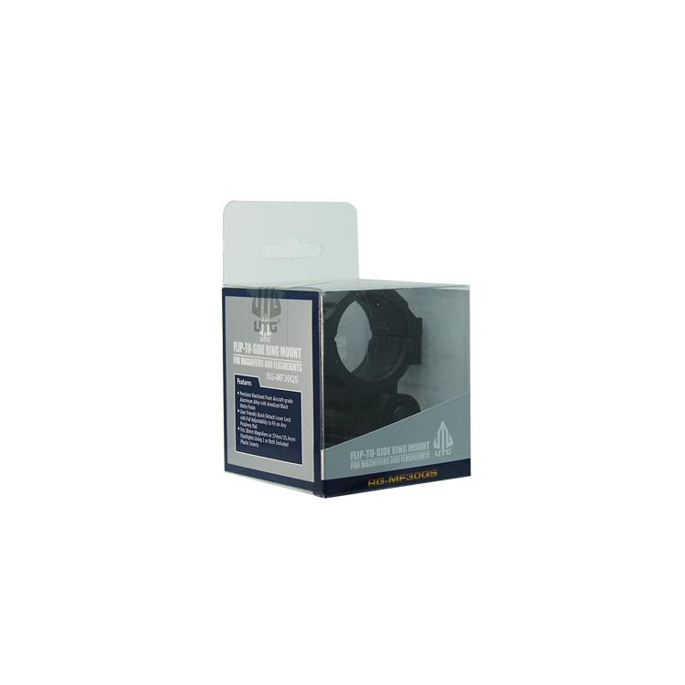 Flip-Up sklopný rychloupínací picatinny montážní kroužek, 30 mm, černý, UTG
