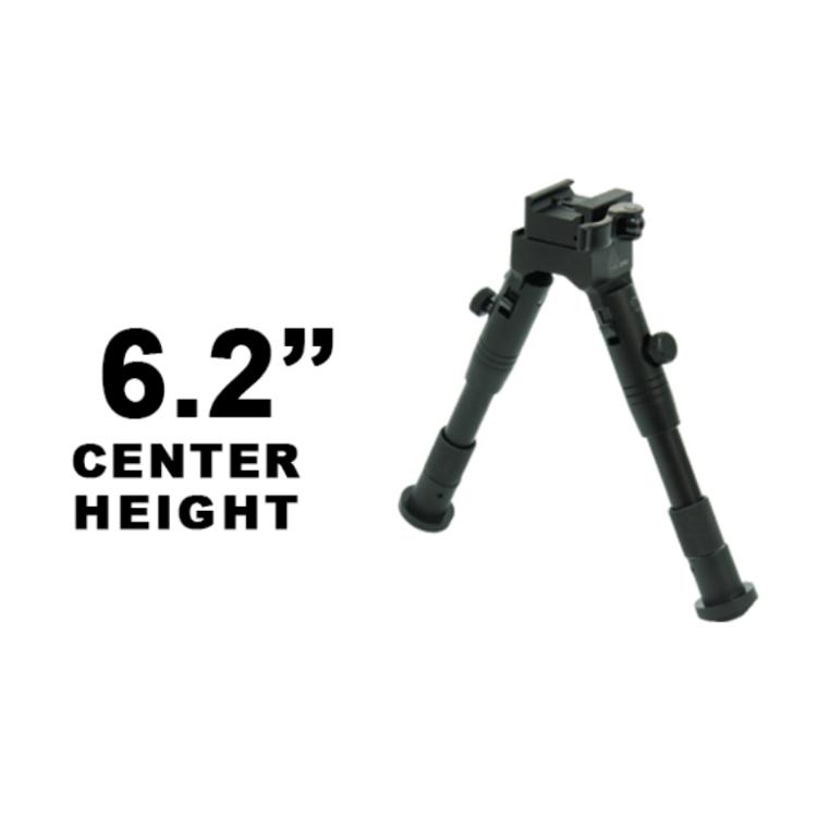 """Bipod 6,2-6,7"""", rychloupínací picatinny montáž, New Gen, Medium Profile, černý, UTG"""