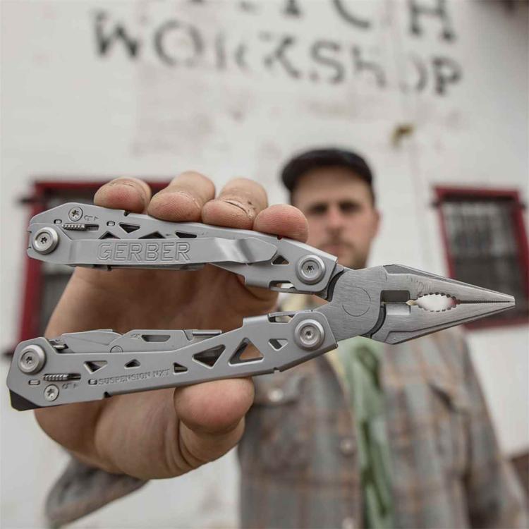 Set kleště Suspension-NXT + nůž Mini Paraframe, dárková krabička, Gerber