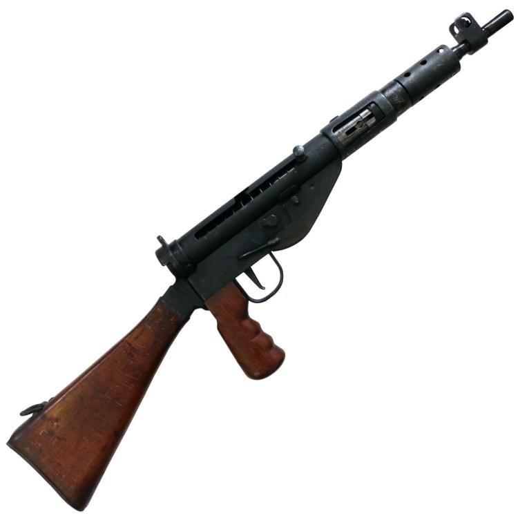 Samonabíjecí puška Sten MK V, ráže 9 mm Luger, použitá, Royal Small Arms Factory