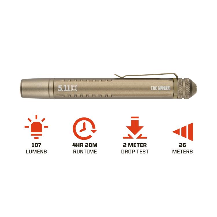 Taktická svítilna EDC PL 2AAA Flashlight, 5.11