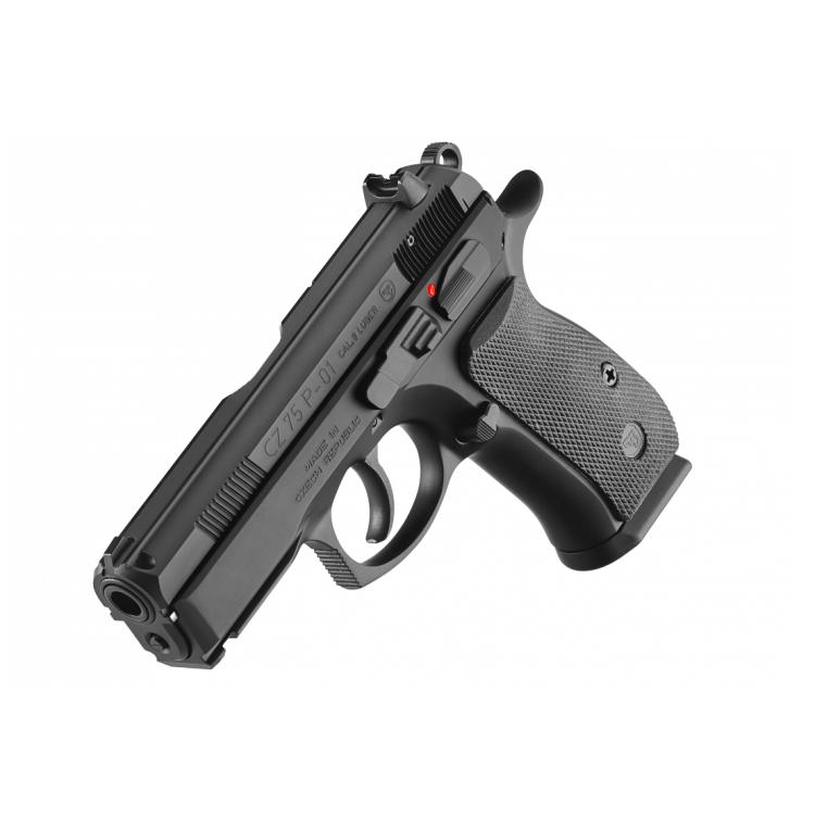 Samonabíjecí pistole CZ 75 P-01, steel black, 9 mm Luger, CZUB
