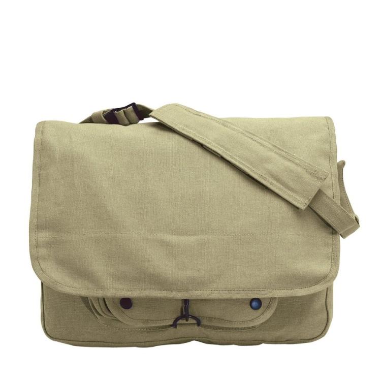Taška přes rameno Vintage Canvas Paratrooper, khaki, Rothco