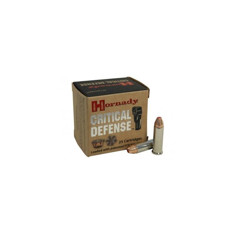 Kulové náboje .38 Special+P, 110 grs, FTX  Critical Defense, Hornady