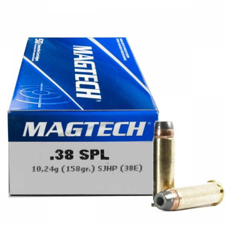 Náboje .38 SPECIAL SJHP (38E) 10,24 g 158 grs, 50 ks, Magtech