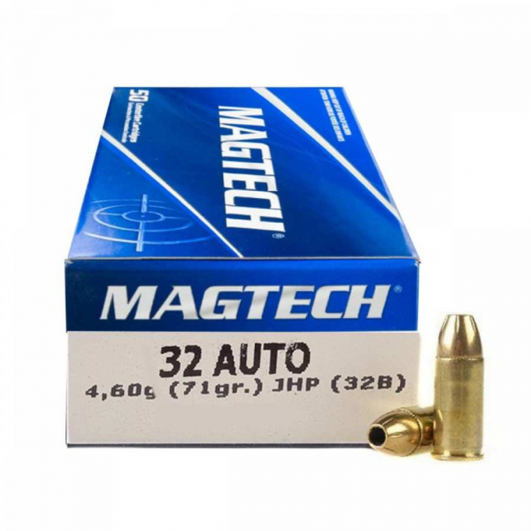 Náboje 7,65 Browning - 32 AUTO JHP (32B) 4,62 g 71 grs, 50 ks, Magtech