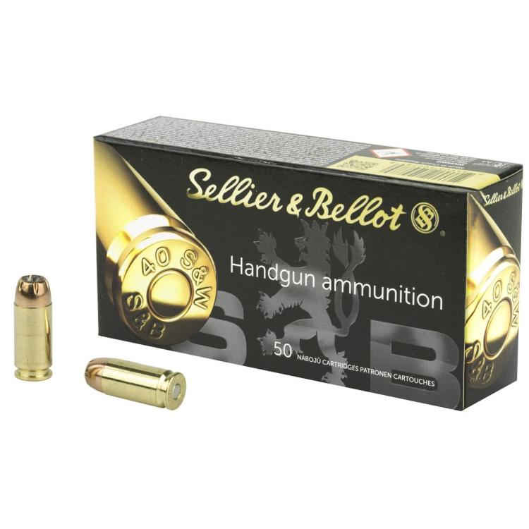 Pistolové náboje 40 S&W JHP, 180 grs, 11,7 g, 50 ks, Sellier&Bellot