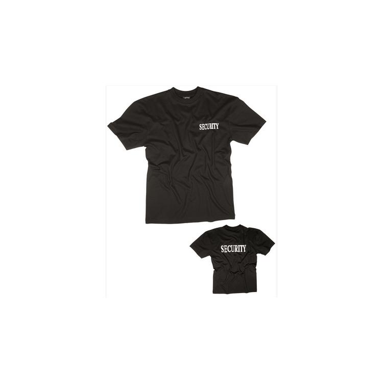 Oboustranné tričko Security, černé, Rothco