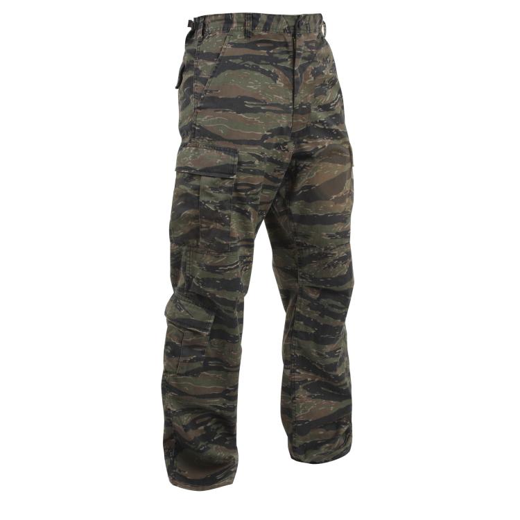 Maskovací kalhoty Vintage Camo Paratrooper, Tiger Stripe Camo