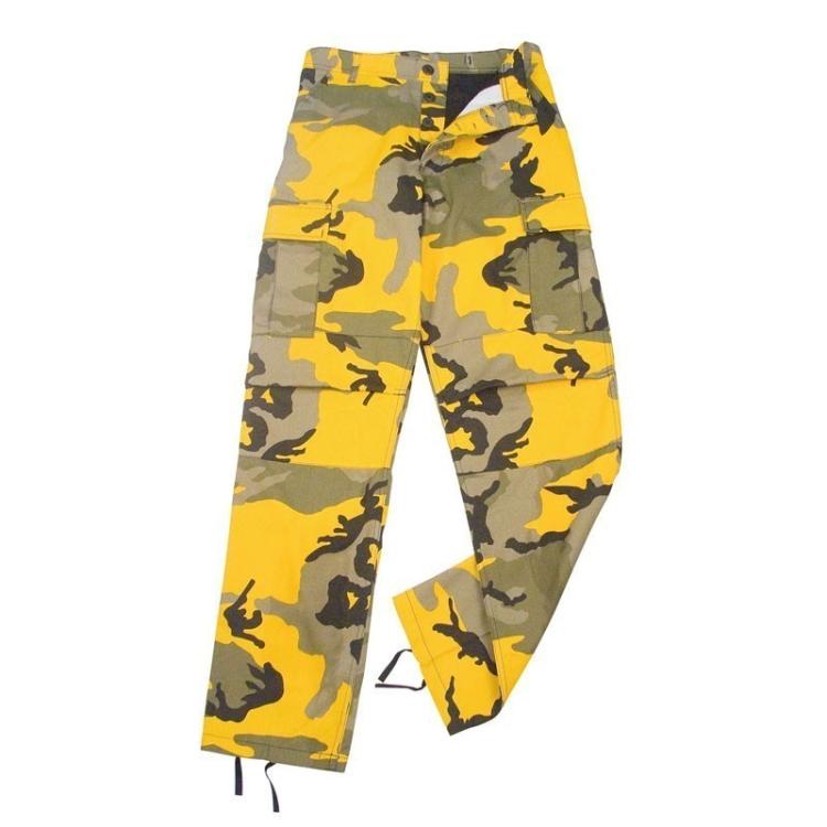 Maskovací kalhoty color BDU, Stinger Yellow Camo