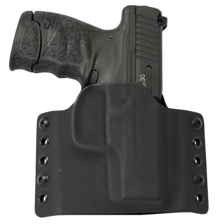 Kydex pouzdro pro Walther PPS M2, pravé, bez swtg., černé, RH Holsters