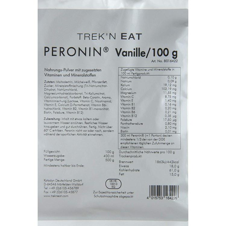 Plně stravitelná výživa PERONIN, 100 g, vanilka, Trek'n Eat
