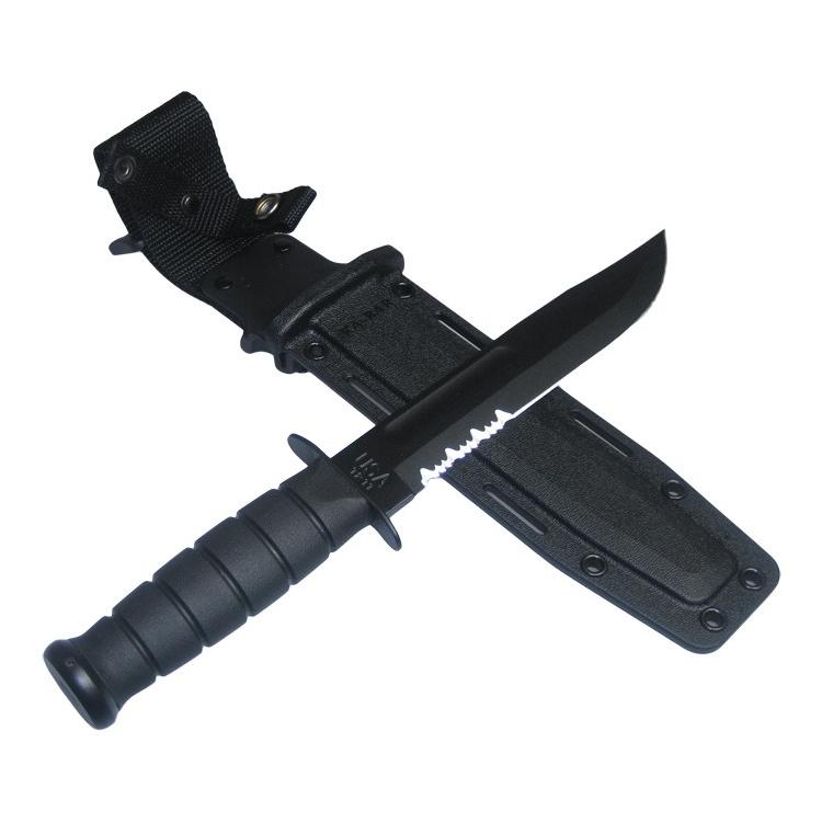Nůž KA-BAR Black Figthing / Utility, zoubkovaná čepel, pouzdro Kydex - Nůž KA-BAR Black Figthing / Utility, zoubkovaná čepel, pouzdro Kydex