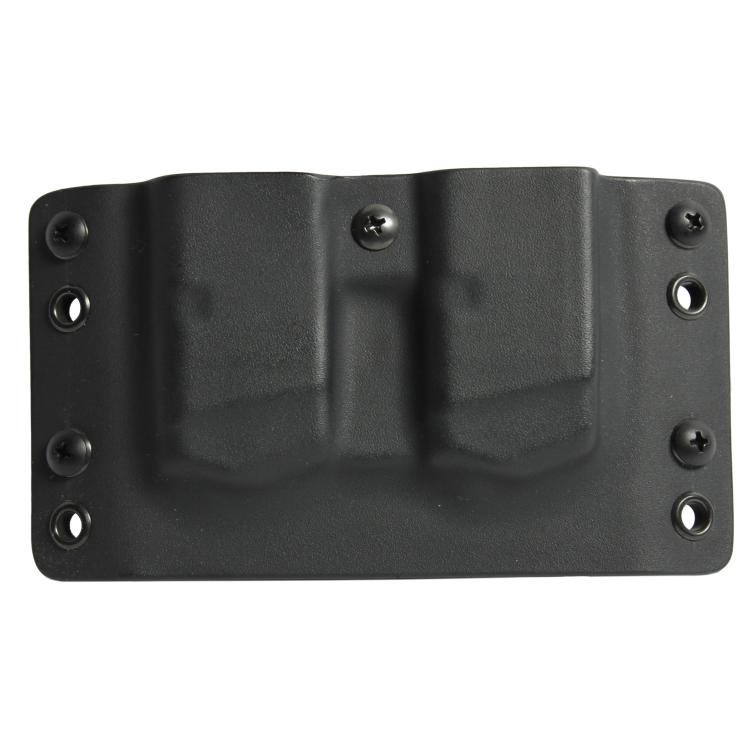 Kydex pouzdro  RH Holster, 2x zásobník Glock 9 mm/40SW, bez sweatguardu, pravé, černé