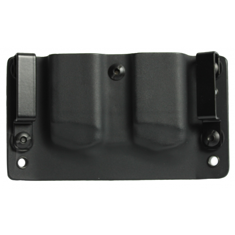 Kydex pouzdro na 2x zásobník Glock 9 mm/40SW, bez swtg., pravé, černé, RH Holsters
