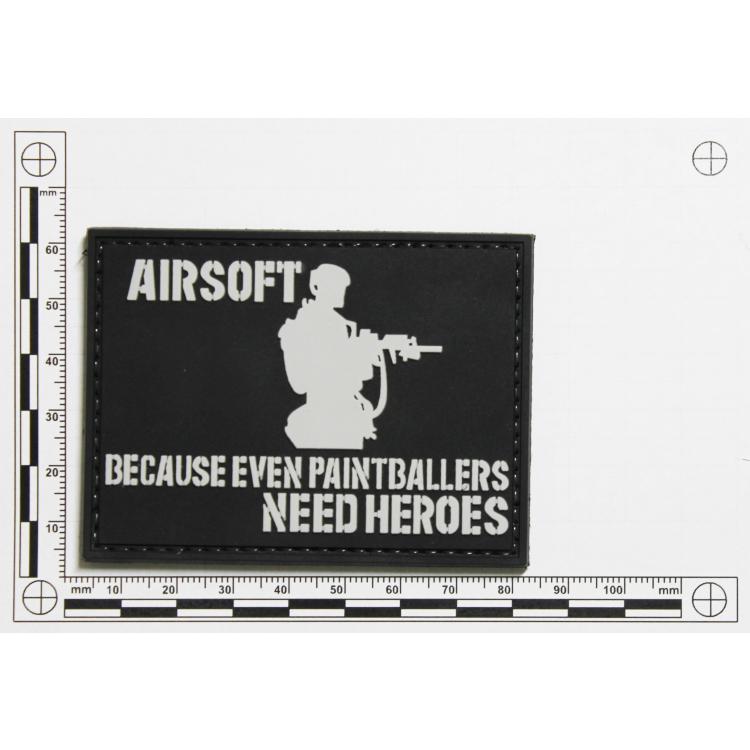 PVC nášivka Airsoft heroes