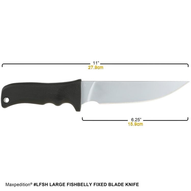 Nůž Maxpedition Large Fishbelly, hladké ostří