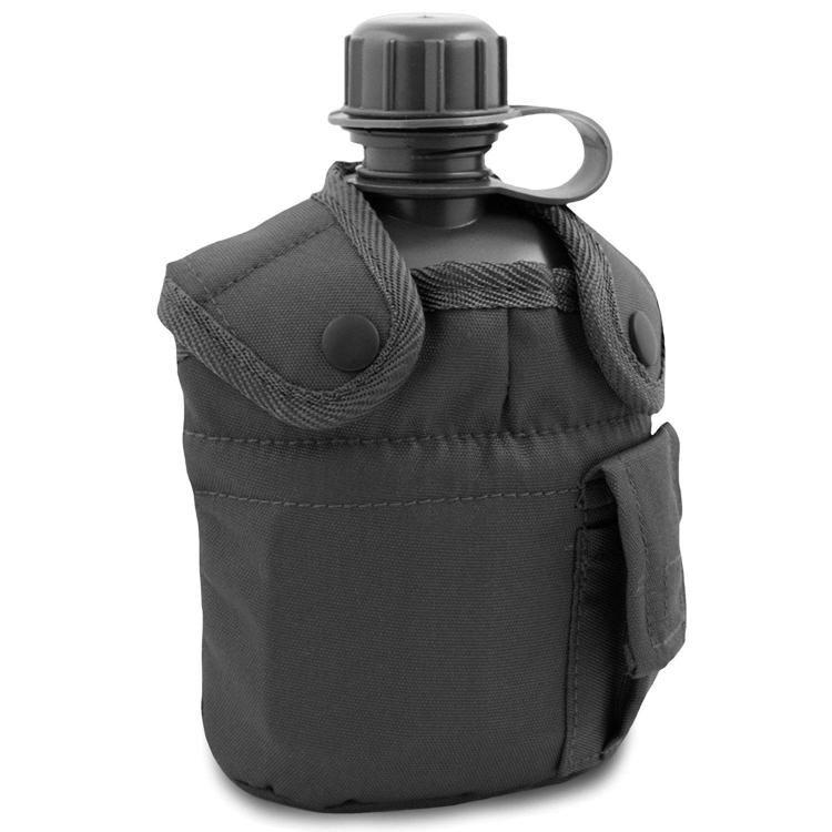 Polní láhev U.S.Army s pouzdrem a pítkem, černá, 1 L, Mil-Tec - Polní láhev U.S.Army s pouzdrem a pítkem, černá, 1 L, Mil-Tec