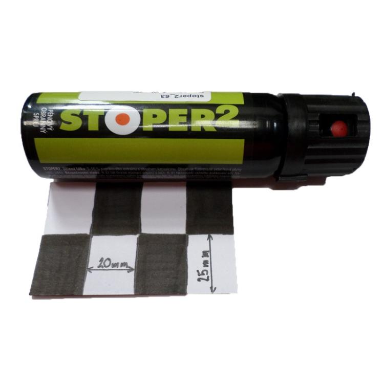 Pěnový pepřový sprej STOPER 2, 63 ml, A1 Security - Pěnový pepřový sprej STOPER 2, 63 ml, A1 Security
