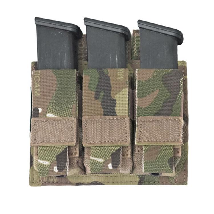 Sumka na 3 pistolové zásobníky, s chlopní, Warrior - Sumka na 3 pistolové zásobníky, s chlopní, Warrior
