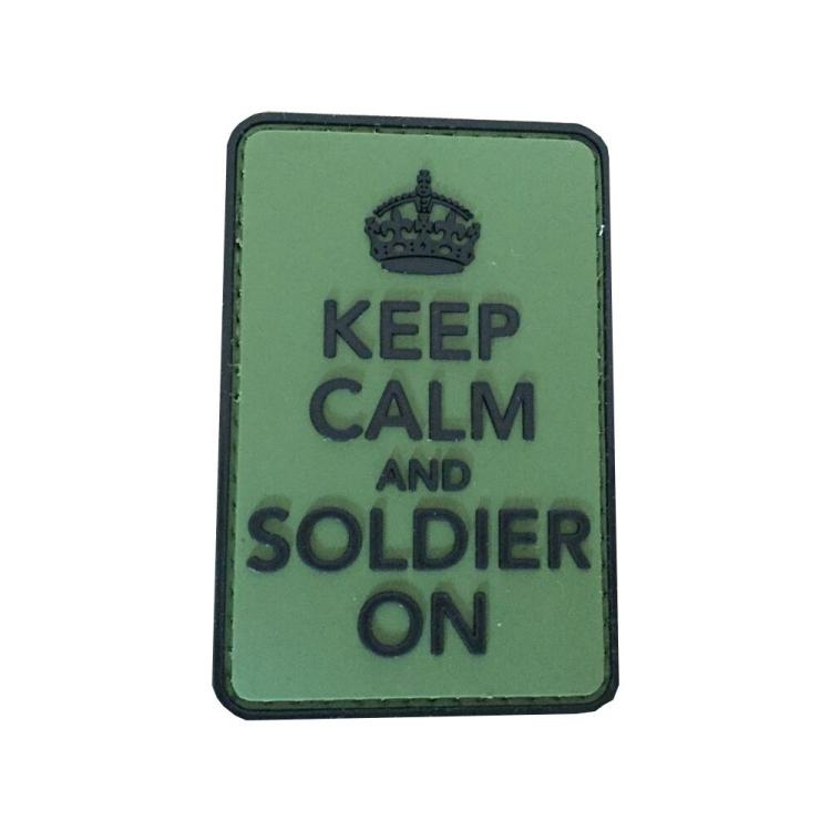 PVC nášivka Keep calm and Solider on
