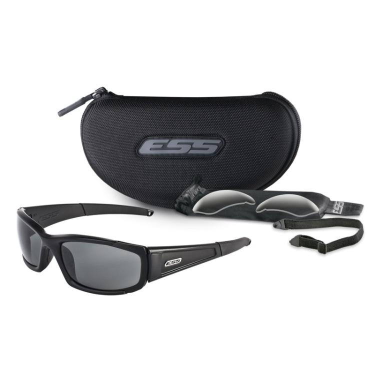 Sluneční brýle CDI, černý rám, čirá + tmavá skla, ESS