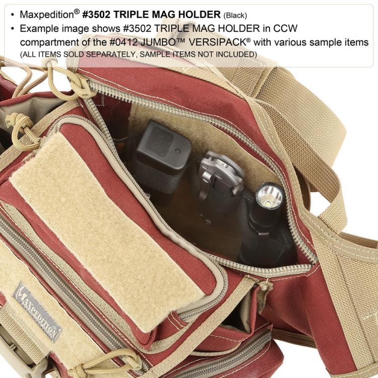 Pouzdro na zásobníky Maxpedition Triple Mag