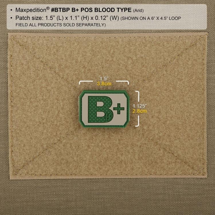Nášivka B+ POS, Maxpedition
