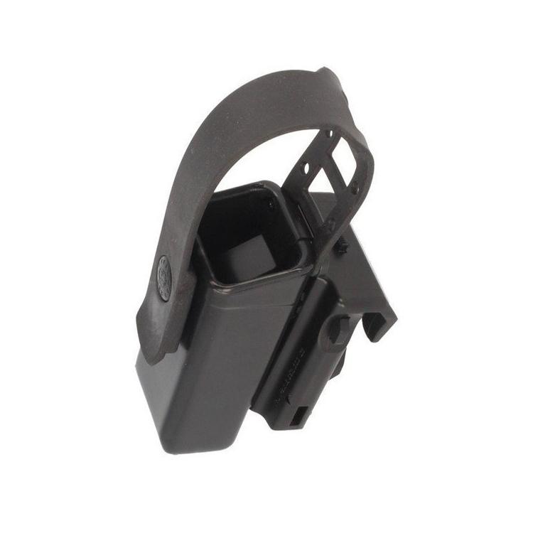 Rotační plastové pouzdro pro dvouřadý zásobník 9mm Luger s chlopní, MH-04-S, černé, ESP