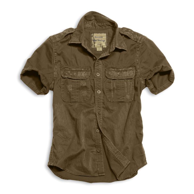 Košile Raw Vintage, krátký rukáv,  Surplus - Košile Surplus Raw Vintage, krátké rukávy