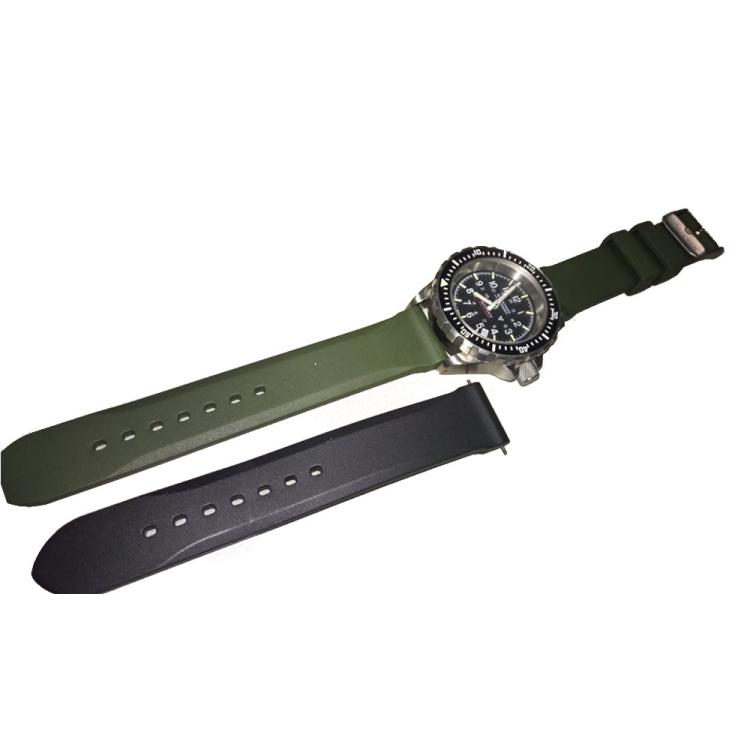 Pásek na hodinky Marathon z vulkanizované gumy, 20 mm