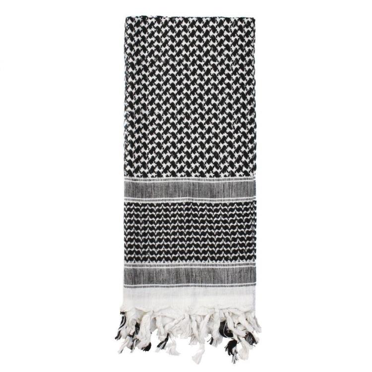Šátek Shemagh Deluxe, černo-bílý, Rothco - Šátek Shemagh deluxe Rothco, černo-bílý