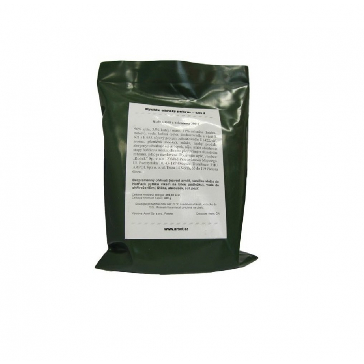 Vojenská potravinová dávka MRE, ROP, Arpol - Vojenská potravinová dávka Arpol MRE ROP
