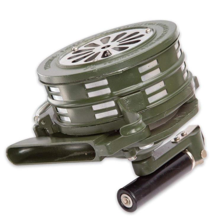Přenosná hasičská siréna, olivová, Mil-Tec