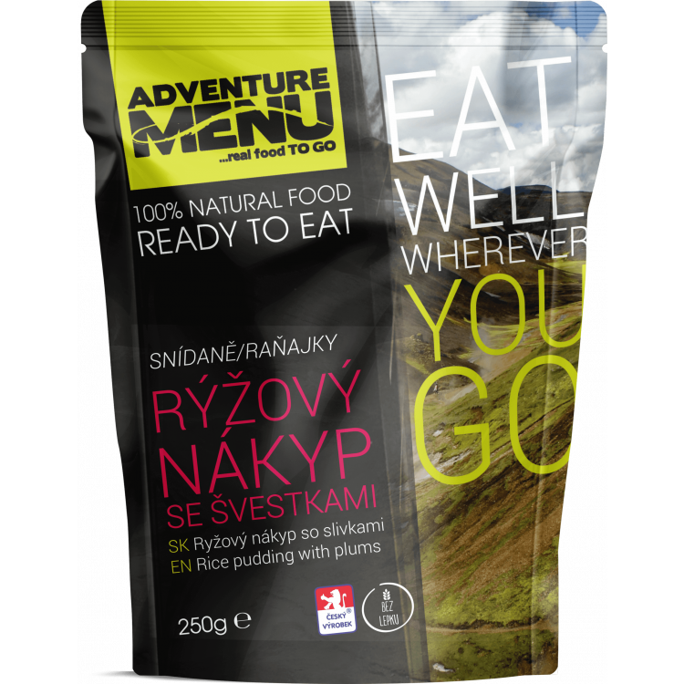 Rýžový nákyp se švestkami, bez lepku, vegetariánské, Adventure Menu - Rýžový nákyp se švestkami (bez lepku, vegetariánské), Adventure Menu