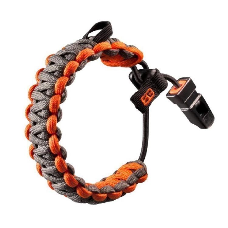 Survival náramek Gerber Bear Grylls, šedo-oranžový