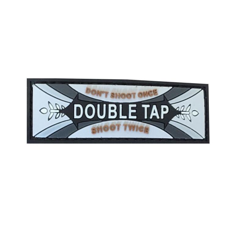PVC nášivka Double Tap