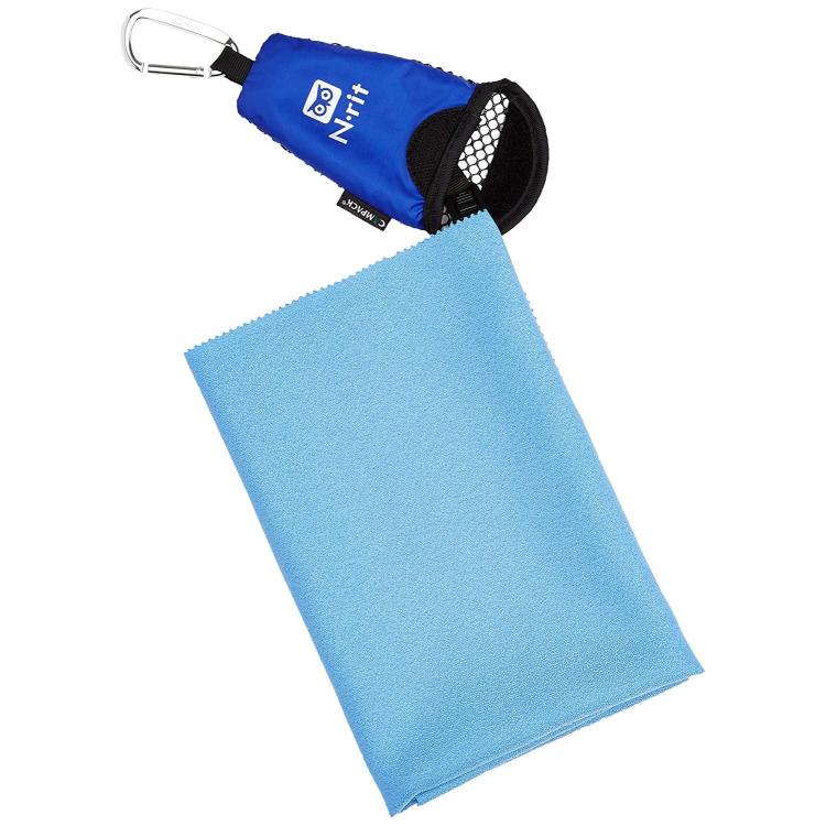 Mini ručník N-rit, mikrovlákno, modrý