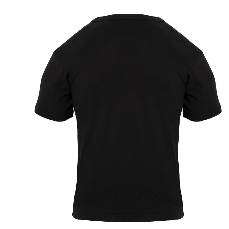 Pánské bavlněné tričko, černé, Rothco - Triko Rothco, černá