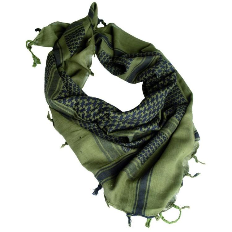 Šátek Shemagh, zeleno-černý, Mil-Tec