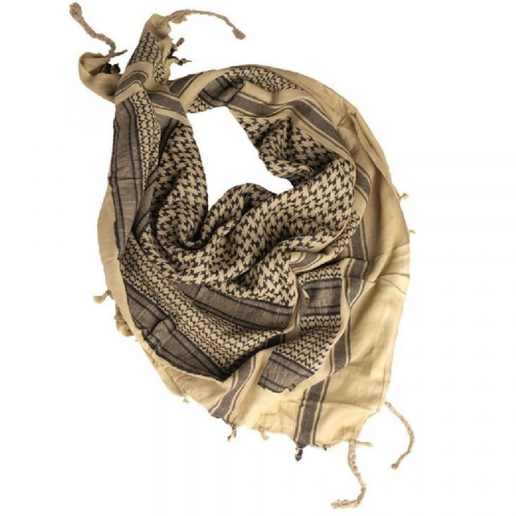 Šátek Shemagh, pískovo-černý, Mil-Tec