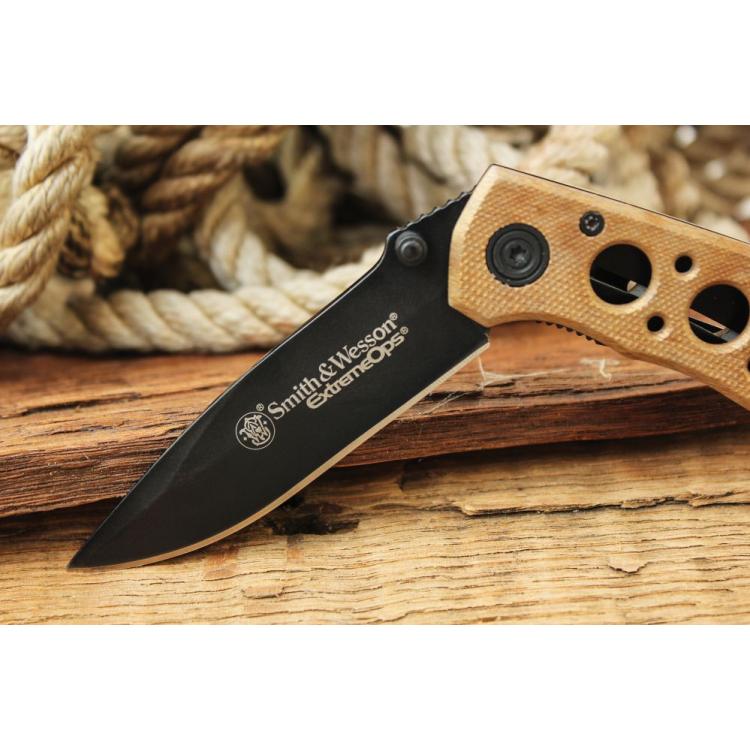 Zavírací nůž S&W Extreme Ops, pískový - Zavírací nůž S&W Extreme Ops, pískový