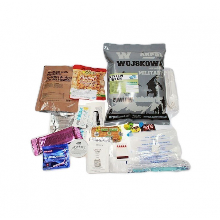 Vojenská potravinová dávka MRE, WSH, Arpol - Vojenská potravinová dávka MRE, ARPOL WSH
