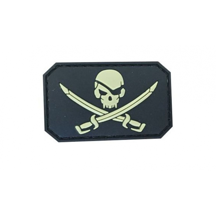 PVC nášivka Pirate Skull